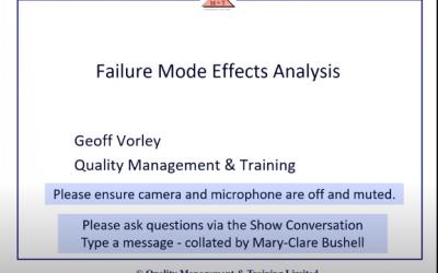 Failure Mode Effects Analysis (Webinar)