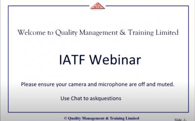 IATF 16949 Quality Standard (Webinar)