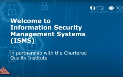 Information Security Management (Webinar)